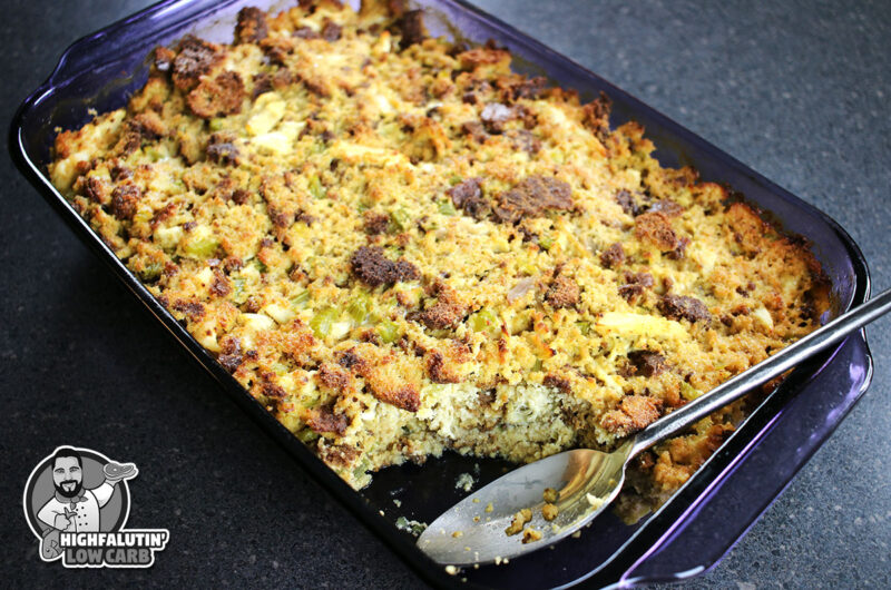 """Low Carb Southern """"Cornbread"""" Dressing"""
