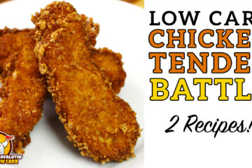 Low Carb Chicken Tender Recipe Video by Highfalutin' Low Carb