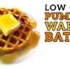 Low Carb Pumpkin Waffle Battle Video by Highfalutin' Low Carb