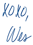 Wes XOXO Signature