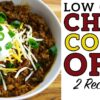 Low Carb Chili Recipe Battle Video by Highfalutin' Low Carb